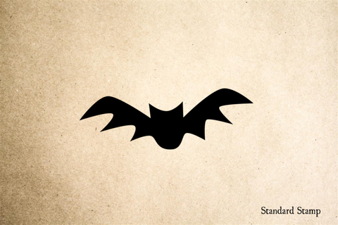 Bat Cartoon Rubber Stamp