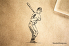 Batter Rubber Stamp