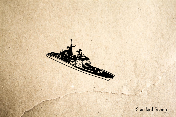 Battleship Rubber Stamp