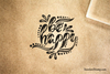 Be Happy Rubber Stamp