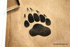 Bear Claw Paw Print Rubber Stamp