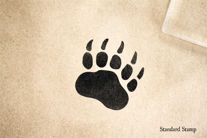 Bear Paw Rubber Stamp