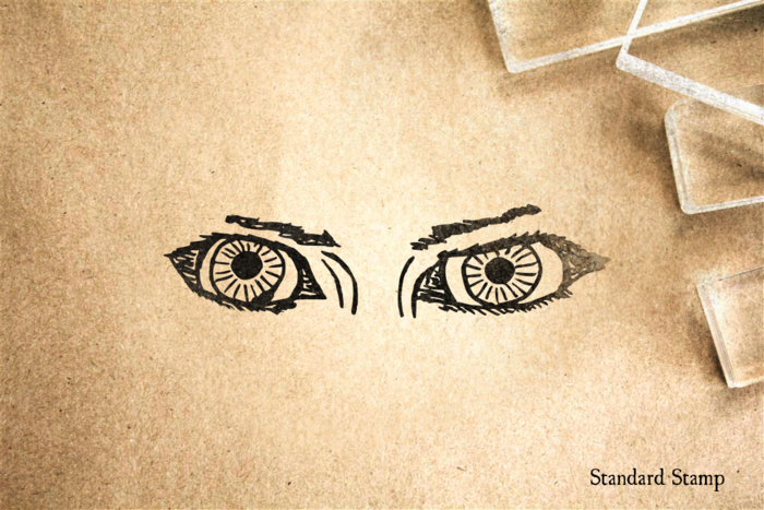 Beautiful Eyes Rubber Stamp
