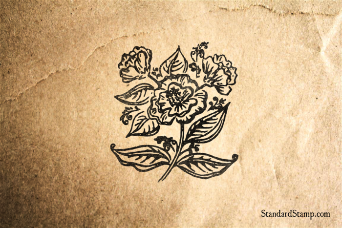 Beautiful Flower Rubber Stamp