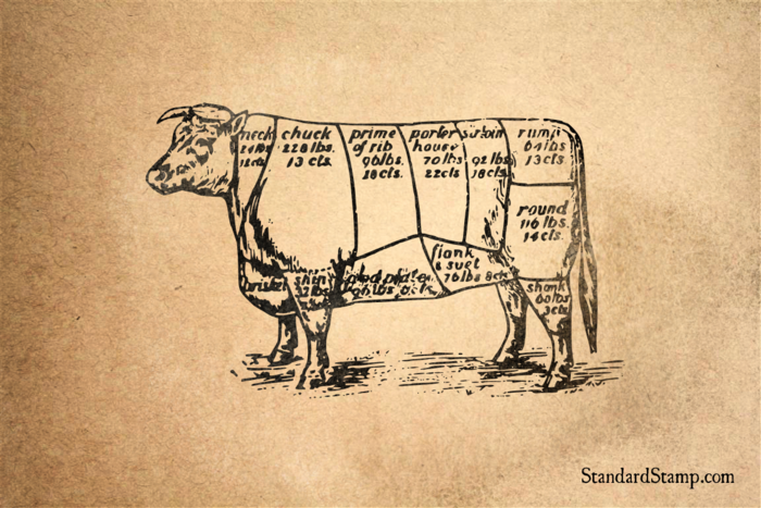 Beef Cow Rubber Stamp