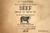 Beef Proclamation Rubber Stamp