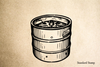 Beer Barrel Rubber Stamp