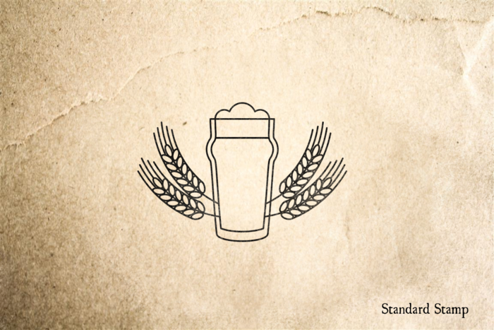 Beer Crest Rubber Stamp