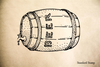 Beer Keg Rubber Stamp