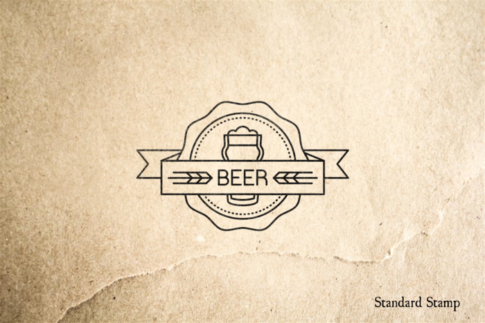 Beer Seal Rubber Stamp