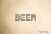 Beer Text Rubber Stamp
