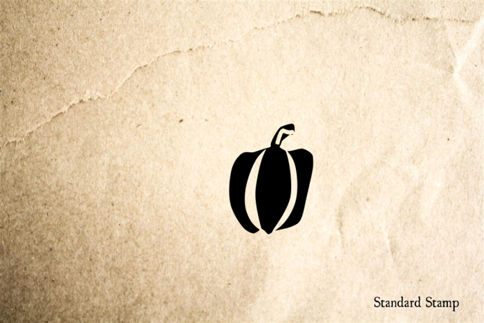 Bell Pepper Rubber Stamp
