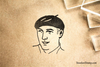 Beret Rubber Stamp