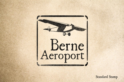 Berne Travel Rubber Stamp