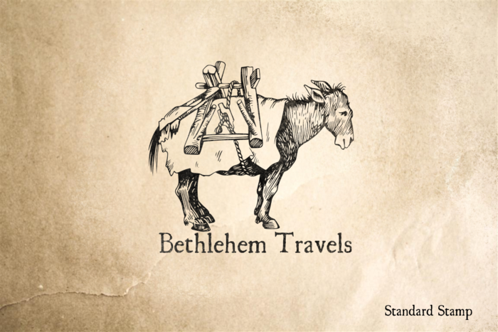 Bethlehem Travels Rubber Stamp