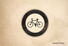 Bicycles Welcome Rubber Stamp