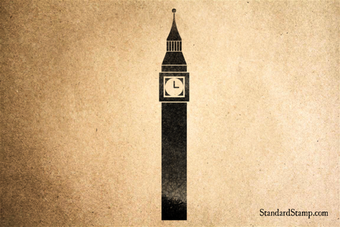 Big Ben London Rubber Stamp