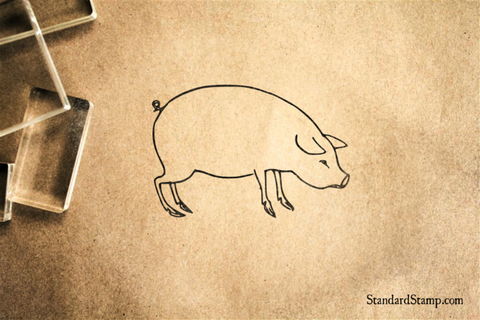 Big Pig Rubber Stamp