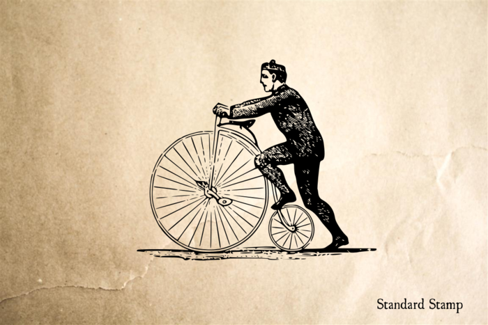 Penny-Farthing Bike Rubber Stamp
