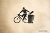 Bikes over Cars Rubber Stamp