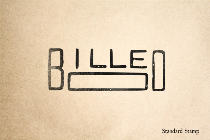 Billed Rubber Stamp