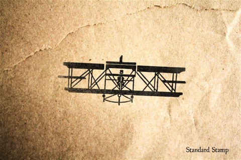 Biplane Rubber Stamp