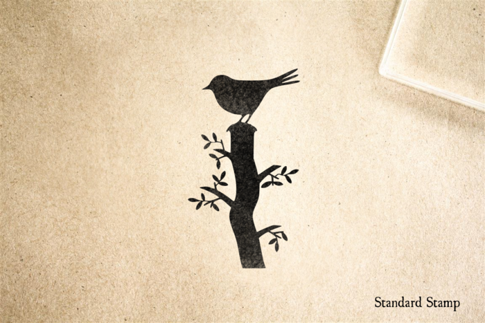 Bird on a Stump Rubber Stamp