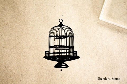 Birdcage Rubber Stamp