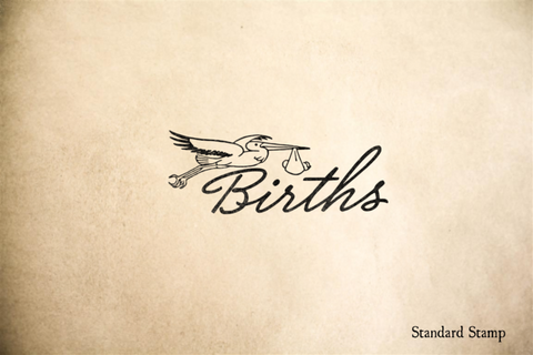Births Announcement Rubber Stamp