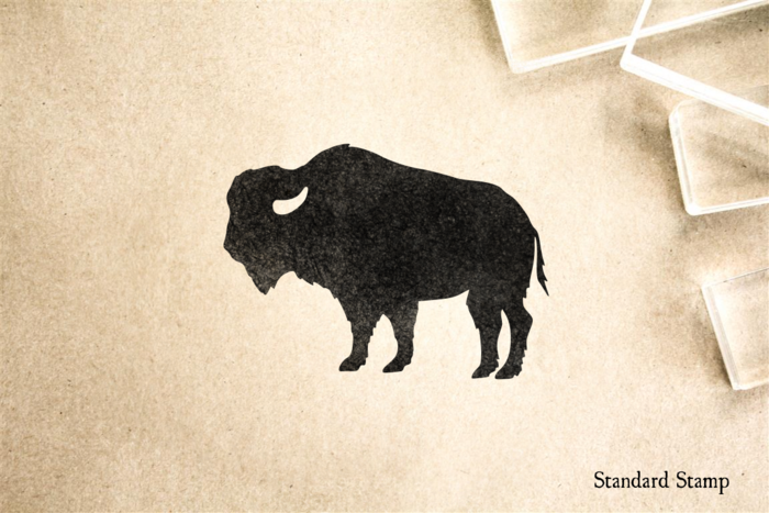 Bison Rubber Stamp