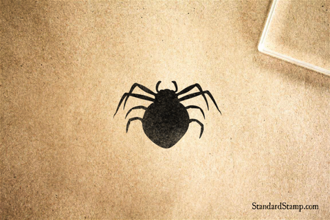 Black Widow Rubber Stamp