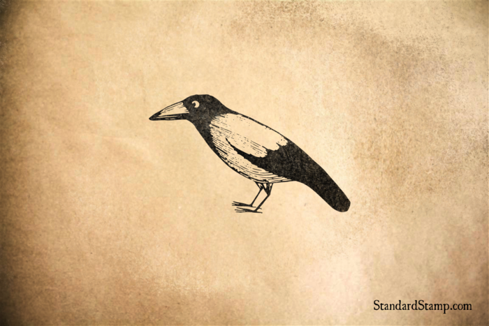 Blackbird Rubber Stamp