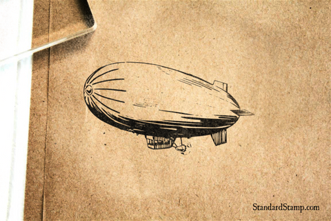 Blimp Rubber Stamp