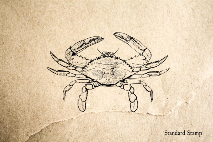 Blue Crab Rubber Stamp