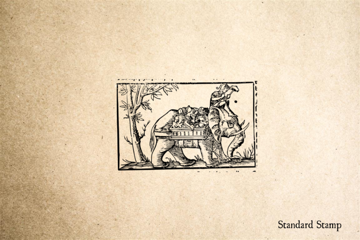 Elephant Rider Rubber Stamp