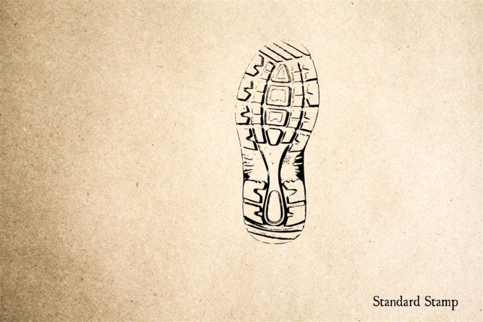 Boot Print #3 Rubber Stamp