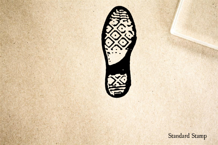 Boot Print #7 Rubber Stamp