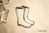 Boots Rubber Stamp