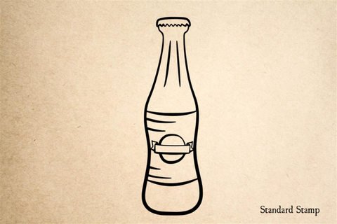 Bottle Cartoon Rubber Stamp