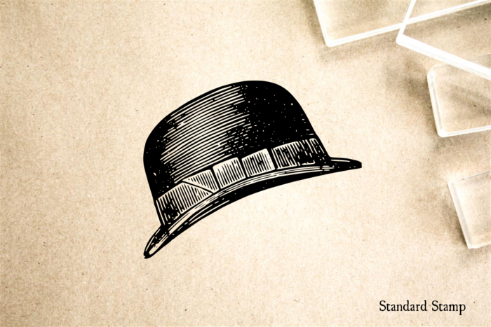 Bowler Hat Rubber Stamp