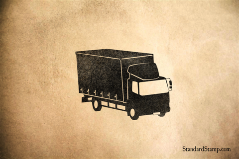 Box Truck Rubber Stamp