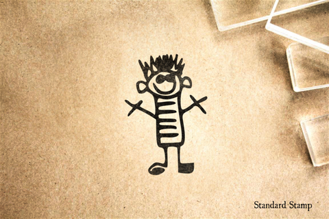 Boy Drawing Rubber Stamp