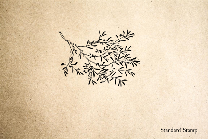 Olive Branch Rubber Stamp