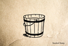 Wooden Bucket Rubber Stamp