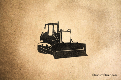 Bulldozer Rubber Stamp