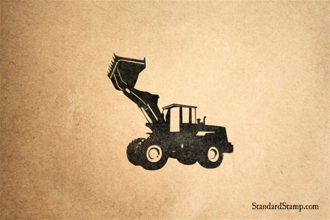 Bulldozer Lifting Rubber Stamp