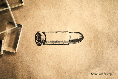 Bullet Cartridge Rubber Stamp