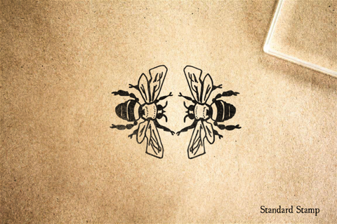 Bumblebee Dance Rubber Stamp