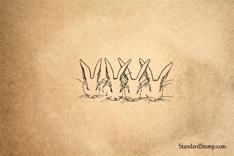 Bunny Faces Rubber Stamp