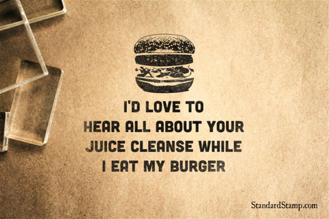 Burger Rubber Stamp